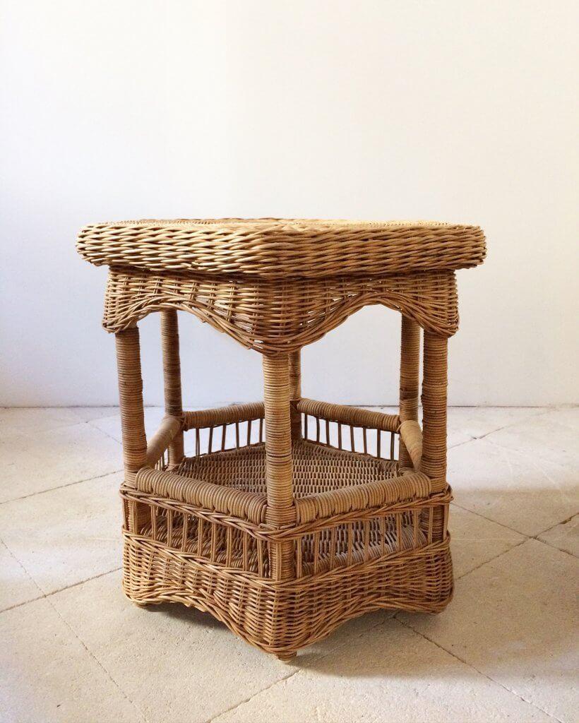 atelier vime table basse en rotin et osier. Black Bedroom Furniture Sets. Home Design Ideas