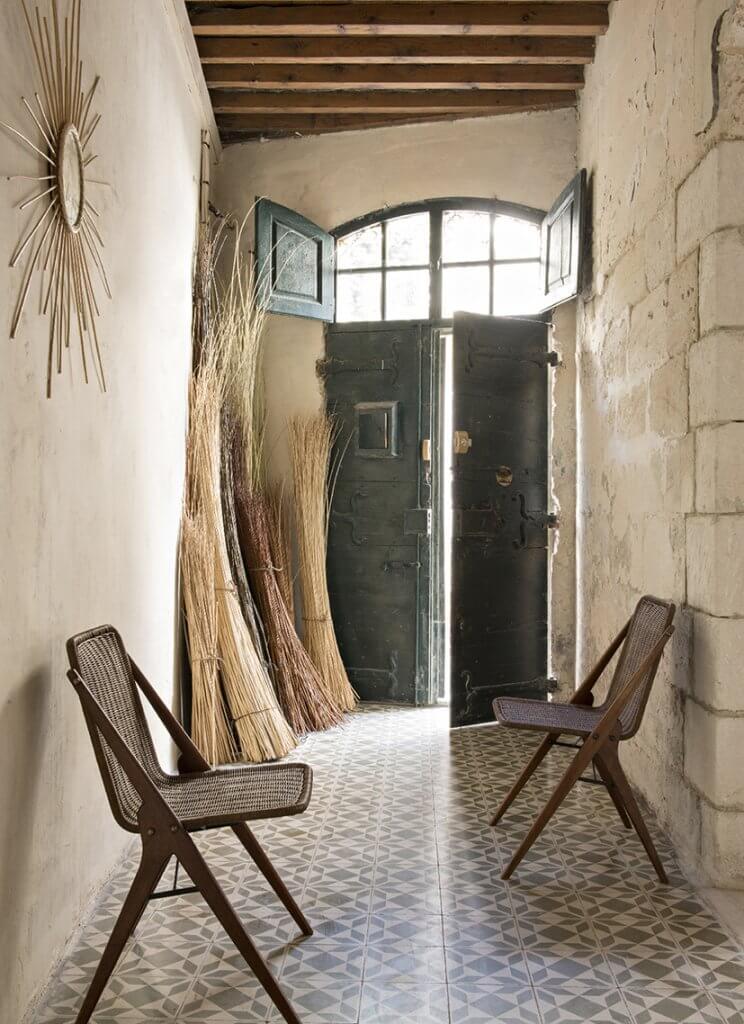 Atelier vime paire de chaises en rotin et bois for Chaise bois et rotin
