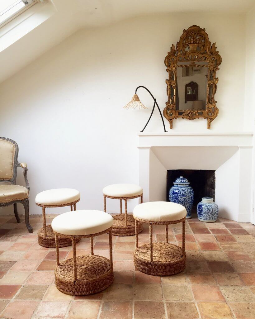 Atelier Vime Rope And Rattan Stools