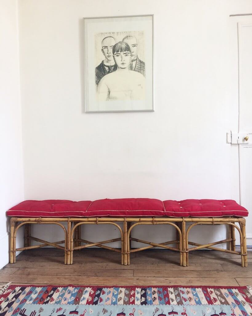 atelier vime grand banc en rotin. Black Bedroom Furniture Sets. Home Design Ideas