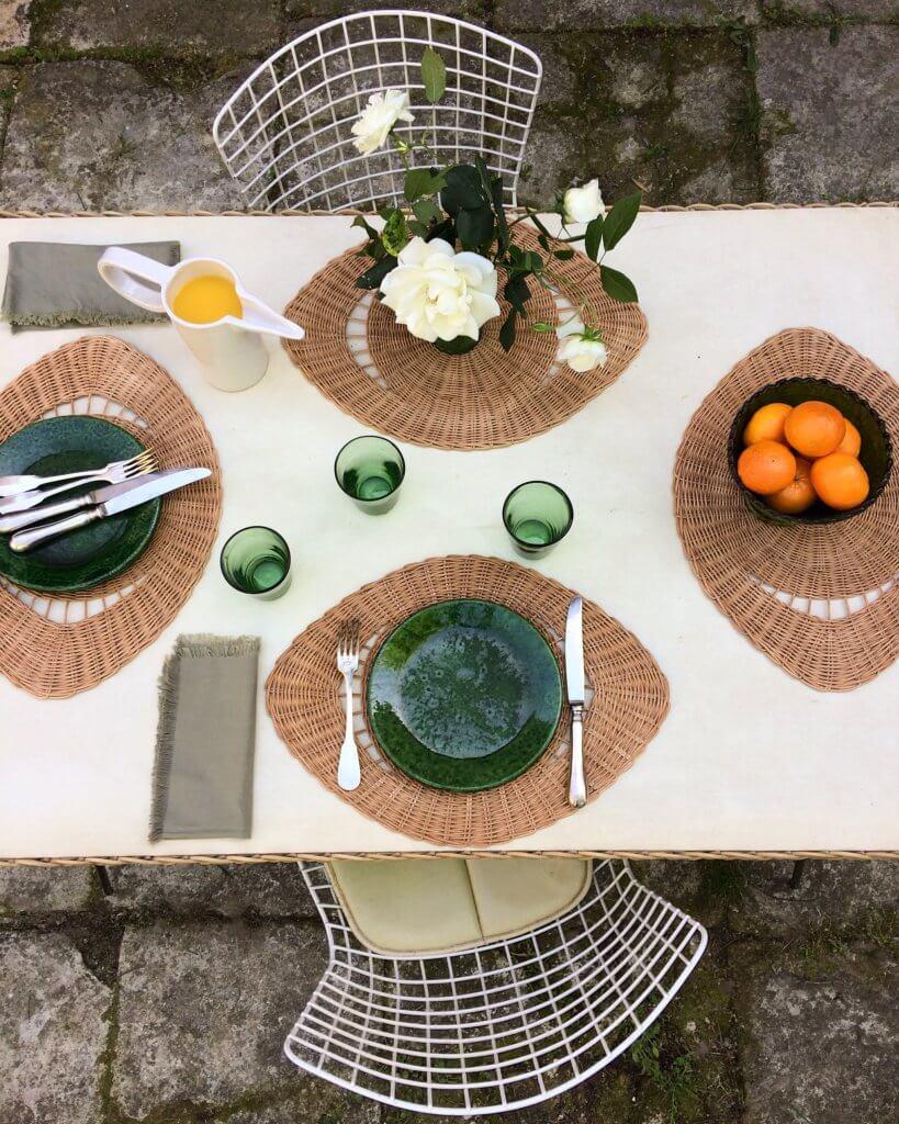"Centre De Table Design atelier vime | ""the eye"", placemat and table center, atelier"